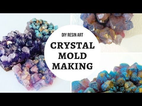 DIY Crystal Mold For Resin - 2 Artists Drink & Ruin Crafts