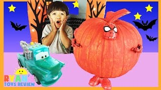 SURPRISE TOYS Halloween GIANT PUMPKIN Spiderman Iron Man Disney Cars Color changers Minions Egg