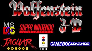 Wolfenstein 3D DOS vs SNES vs Jaguar vs 3DO vs GBA