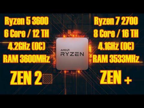 Самое актуальное сравнение процессоров AMD в 2020! Лучшие CPU Ryzen, R5 3600 Vs R7 2700
