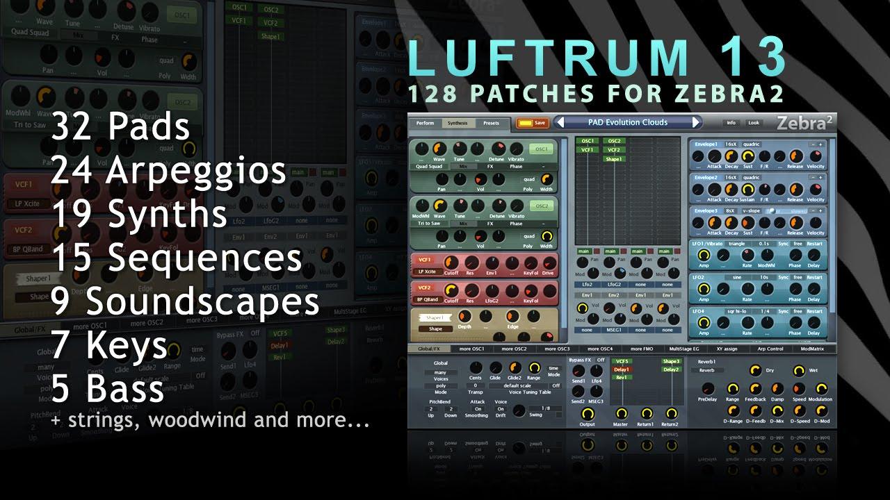 Luftrum 13 - Soundbank for Zebra 2