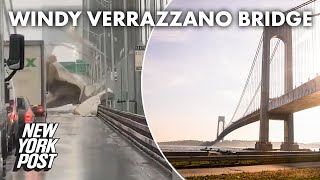 MTA closes Verrazzano Bridge amid wild winds and rain | New York Post