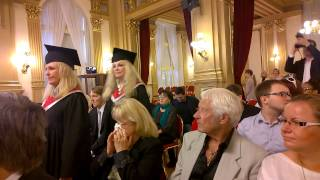 AAU Angloamerican university in Prague graduations 26th June 2015 (in short)