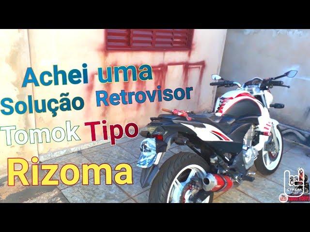 ACHEI UMA SOLUÇÃO RETROVISOR TOMOK TIPO RIZOMA-JOE CB300