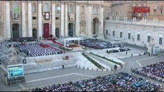 Msza Święta Wigilii Uroczystości Zesłania Ducha Świętego z Watykanu