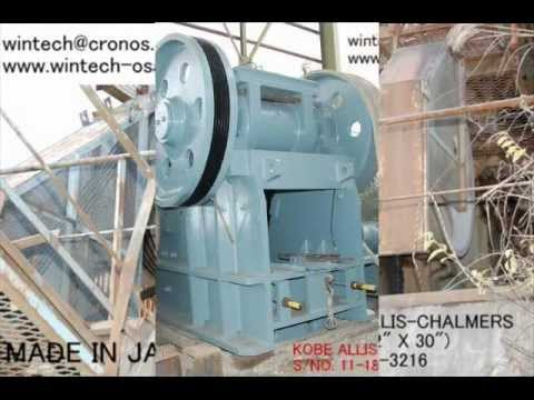 WINTECH JAW CRUSHER & OTHERS (MADE IN JAPAN)