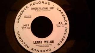 Lenny Welch - Congratulations, Baby - Excellent Doo Wop Ballad
