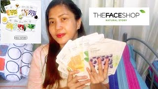 THE FACE SHOP FACE MASK HAUL AND REVIEW BEAUTY PRODUCT Ethan Andy and family