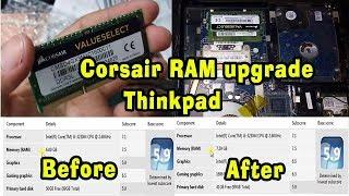 RAM Upgrade   Unpacked Corsair RAM   How to Install Ram   Thinkpad RAM   Gaming RAM