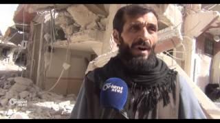 النظام يدمر حي تشرين  ويهجر خمسة وعشرون ألف مدني