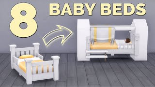 🐣 BASE GAME: 8 BABY BEDS | Functional Furniture | Tutorial | No CC or Mods | The Sims 4
