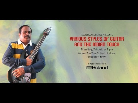 LIVE STREAM : Various Styles of Guitar and the Indian Touch