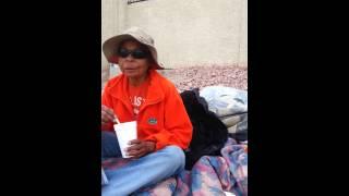 Homeless 68 yr old in Las Vegas Feb 2014