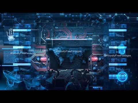 technology video background, Hi tech motion background loop, HUD animation background video effect