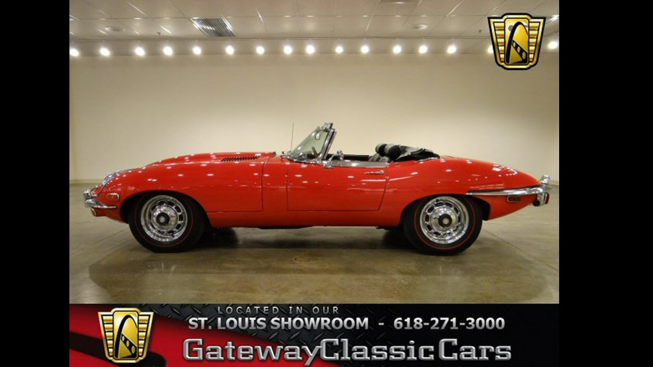 1969 Jaguar XKE-Gateway Classic Cars St. Louis, MO - YouTube