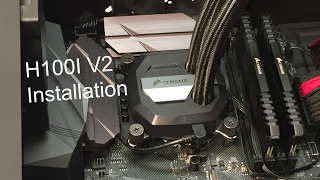 corsair h100i v2 installation guide