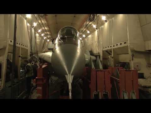 Транспортировка истребителя МиГ-29
