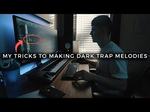 AN EASY TRICK HOW TO MAKE DARK TRAP MELODIES (making a beat fl studio vlog)