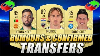 FIFA 20 | CONFIRMED TRANSFERS & RUMOURS #15 | w/ Modric, Bruno Fernandes & James Rodriguez
