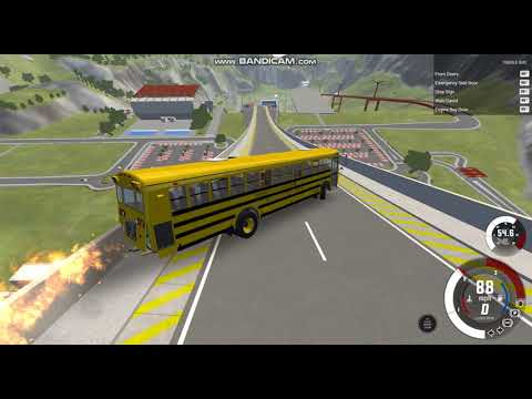 BeamNG drive niszczenie aut i 1 samolotu