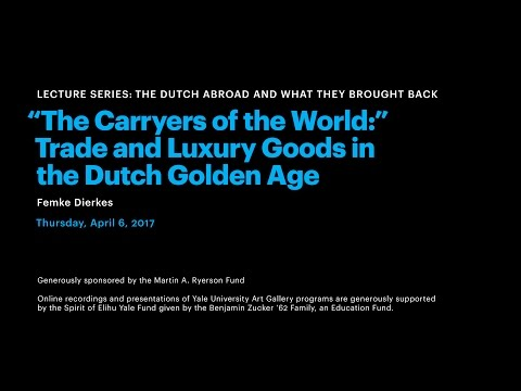 """The Carryers of the World"": Trade and Luxury Goods in the D"