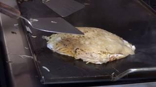 Hiroshima Style Okonomiyaki with Squid