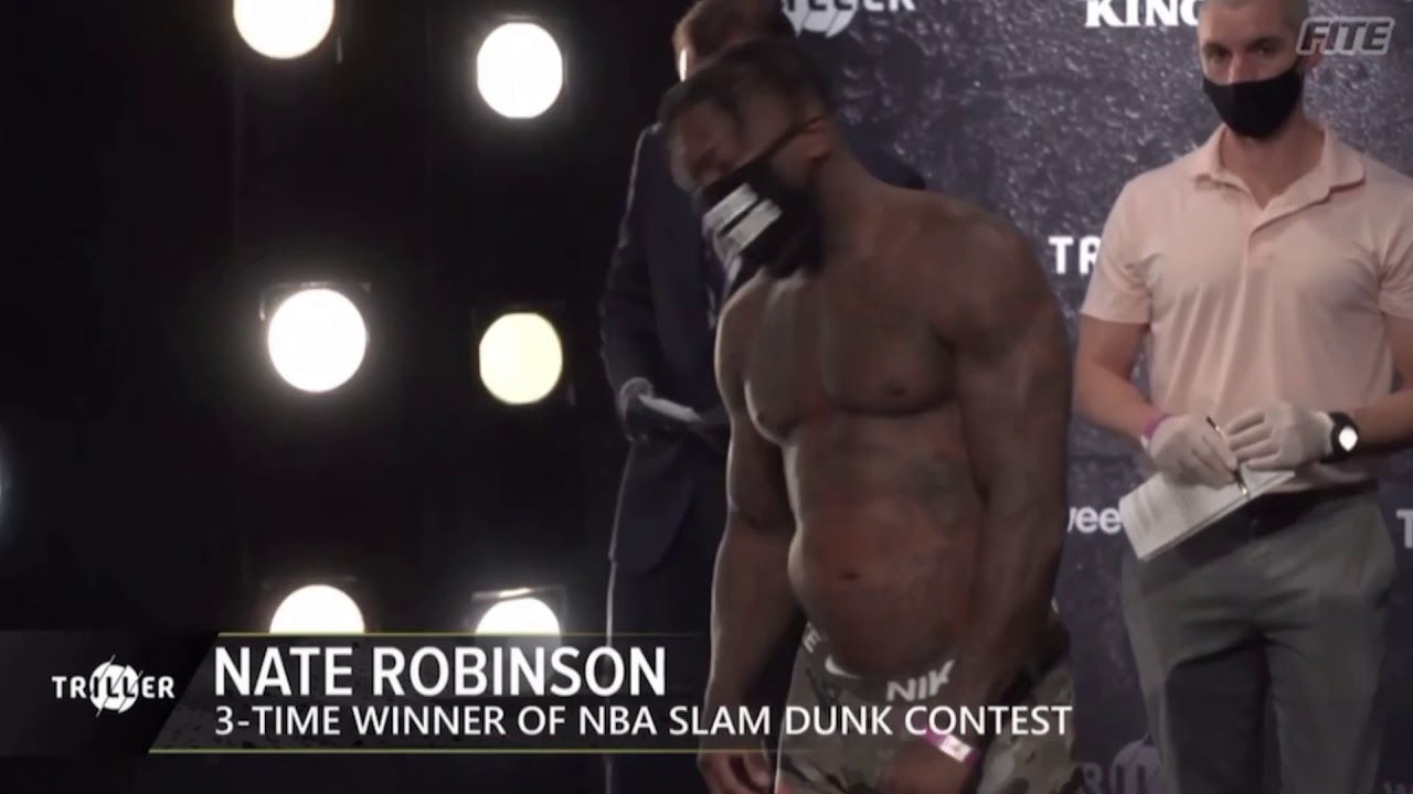 Download Jake Paul vs Nate Robinson weigh in and faceoff