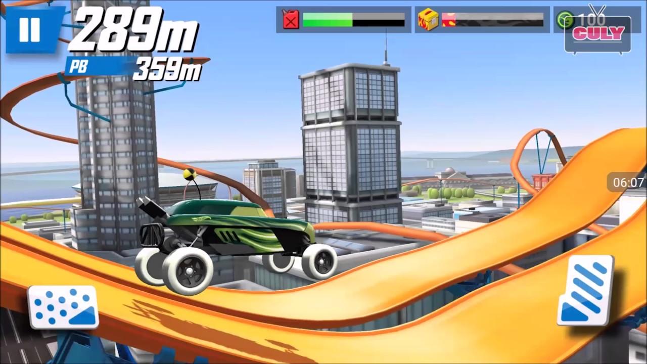 Chơi Race Off đua xe trên đường ray siêu tốc lượn vòng   cu lỳ chơi game lồng tiếng vui nhộn Funny G
