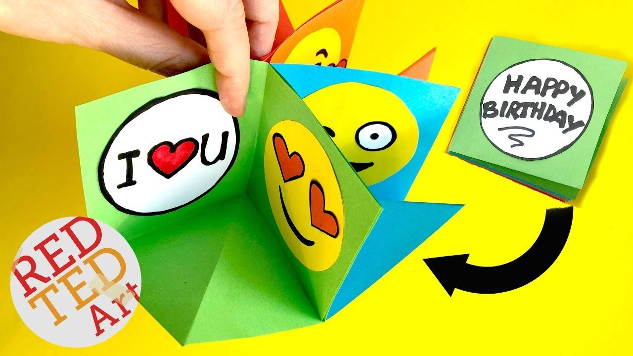 Emoji POP UP Card - Alternative EXPLOSION Card - EASY Card DIY - Love EMOJI  DIYs