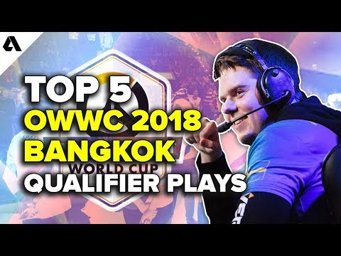 Top 5 Overwatch World Cup Bangkok Qualifier Plays | OWWC 2018 thumbnail
