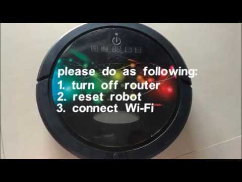 how to reset robot and connect Wi Fi