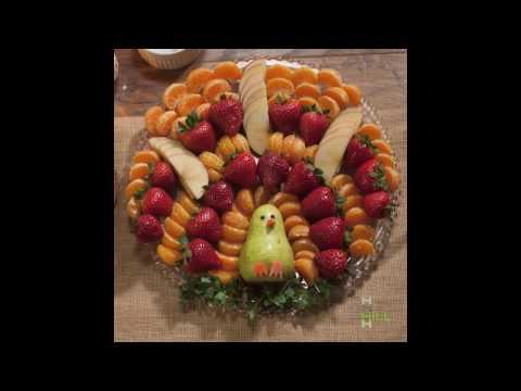 Thanksgiving Recipe Fruit Turkey