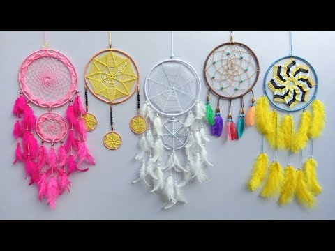 DIY Super Easy Way to Make a Dreamcatcher   Step by step slow video tutorial
