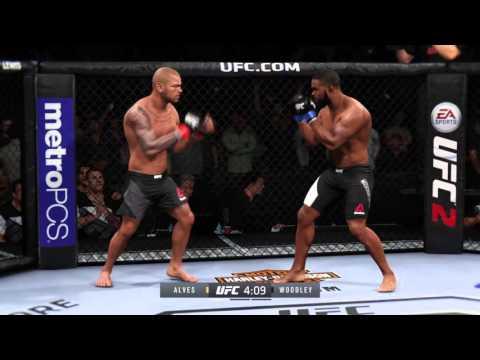 Thiago Alves VS Tyron Woodley / EA Sports UFC 2