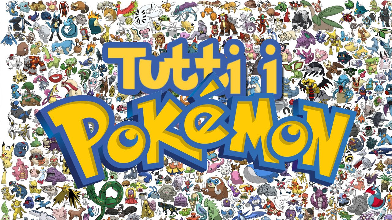 Disegni Da Colorare Di Tutti I Pokemon Del Mondo.Every Pokemon Ever From 1 To 6 Gen