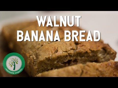Walnut Banana Bread / Bolu Pisang Sehat! - Namaste Organic