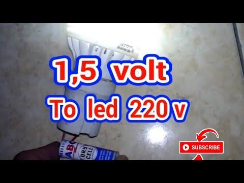 Hanya dengan sebuah baterai 1,5 volt bisa hidupkan Lampu led 220 volt - joule thief 220 v.