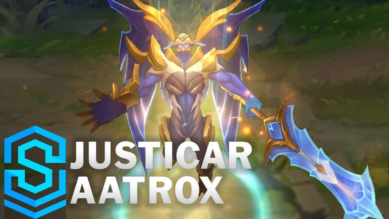 Justicar Aatrox Skin Spotlight - League of Legends