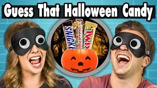 GUESS THAT HALLOWEEN CANDY CHALLENGE! | COLLEGE KIDS vs. FOOD
