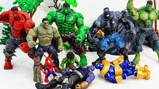 HULK in DANGER! HULK Army Show Up In Time & Saves Hulk From Thanos Villains Toy battle #toysplaytime