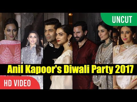 Anil Kapoor Diwali Grand Party 2017  Full Video  Deepika, Kareena, Varun Dhawan, Shahrukh Khan