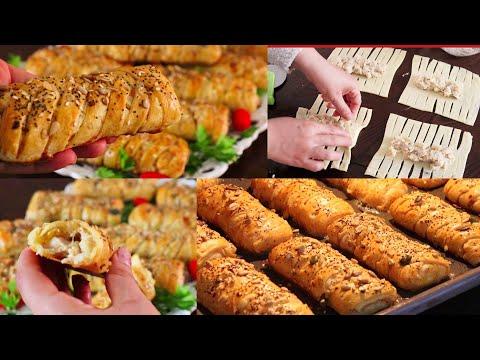 بداي اول فطور رمضانك بشي حاجة خطيرة😁 اروع وصفة والذ حشوة بالعجين المقرمش السحري 4×3