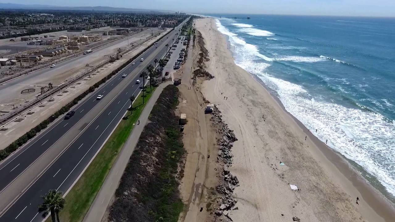 Huntington Beach Cliffs Drone Phantom 4