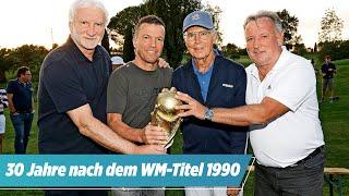 Franz Beckenbauer singt bei Weltmeister-Treffen der WM-Helden von Rom 1990