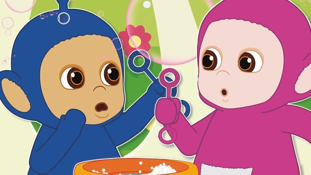 Making Custard Bubbles! - Tiddlytubbies Big Compilation 2020