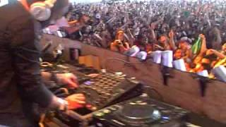 The Bloody Beetroots starting their set at Coachella 2009 w/ Steve Aoki