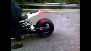 ZX10 with 360 burnout luxury Bikes and Cars, Nitrous Bikes