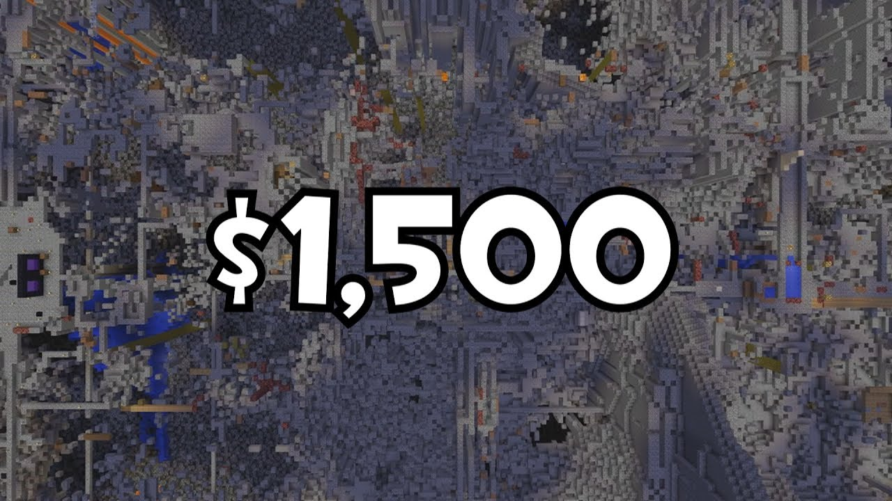 Why does 2b2t org cost $1,500 per month to run?