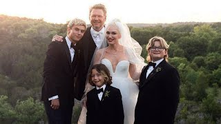 Gwen Stefani Shares NEW Wedding Photo With Blake Shelton and Her Three Sons