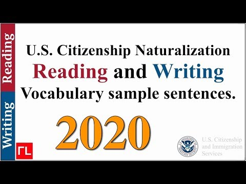 Reading And Writing Vocabulary For The Naturalization Test (2020)